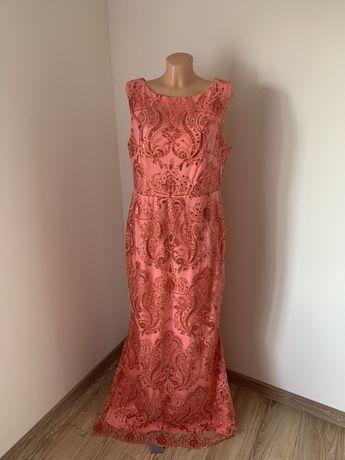 Cekinowa sukienka rozmiar 44 zara lou wesele