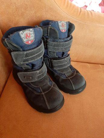 Сапоги термо  кожа ботинки  зима сапожки 19 см