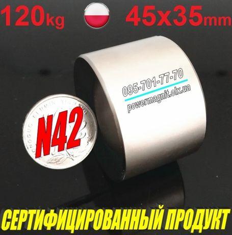 《МАГНИТНАЯ РАСПРОДАЖА》Неодимовый магнит [магниты] 45*35 [120кг] N42