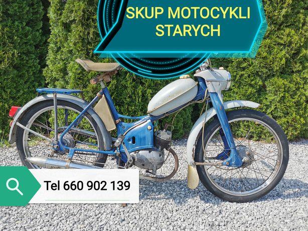 Skup kupi ę STARE MOTOCYKLE MOTORY zabytkowe PRL Simson motorynka mz