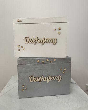 Drewniane pudełko na koperty ślub wesele rustykalne