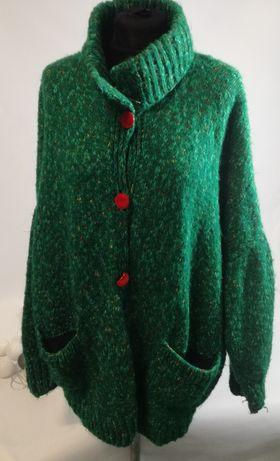 Sweter rozpinany oversize M-XL rękaw typu kimono