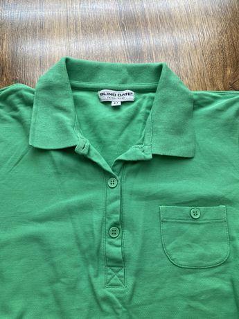 Zielona koszulka polo, rozmiar M