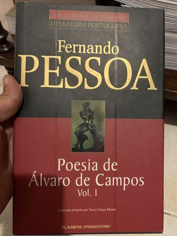 Livro poesia de alvaro de campos , Fernando pessoa