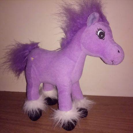 Мягкая игрушка пони, лошадка. звук