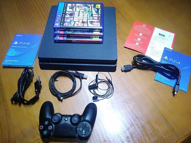 VENDO PS4 500GB NOVA, Acessórios, 3 Jogos e Garantia de 1 Ano
