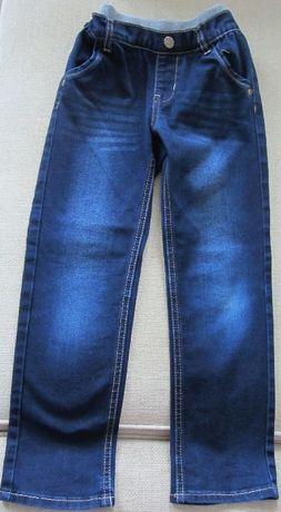 spodnie dżinsy jeansy r.116 granatowe chłopiec bawełna