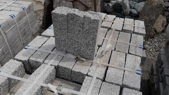 KAMIEŃ Palisada Granitowa Cięto ŁUPANA 10x10x30 cm Granit na SCHODY