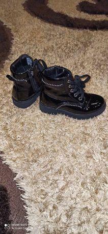 Buty Botki  lakierowane czarne 27