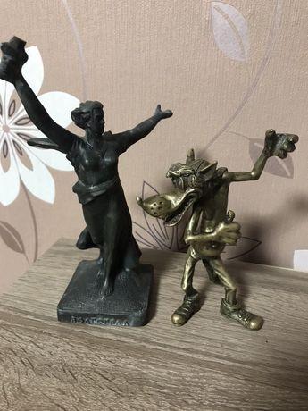 Бронзовая статуэтка Волк  «Ну погоди»