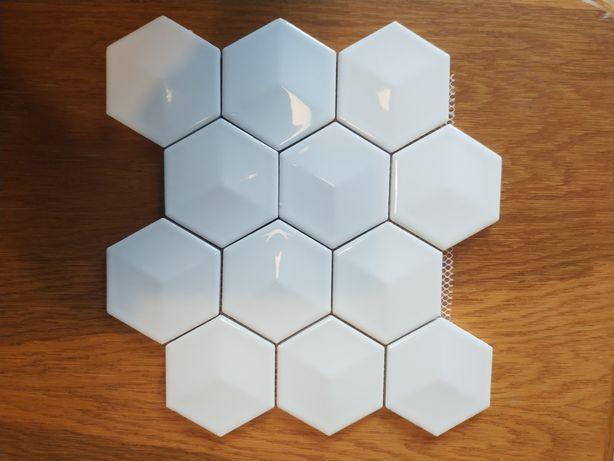 Mozaika heksagony 8 mm cena za 11 arkuszy