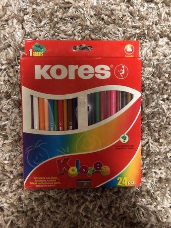 Карандаши цветные Kores 24 шт