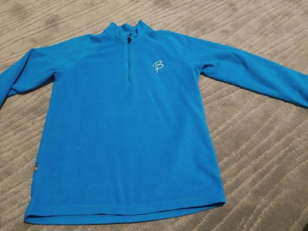 Sweter Bluza błękitna cieniutka cieplutka 140