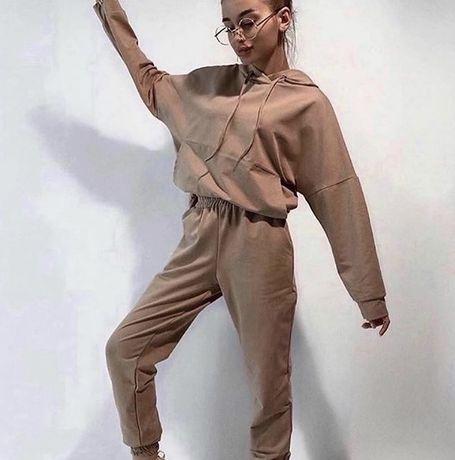 Спортивный костюм легкий цвет мокко капучино