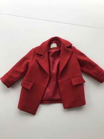 Płaszcz dla dziewczynki rozmiar 110 Zara