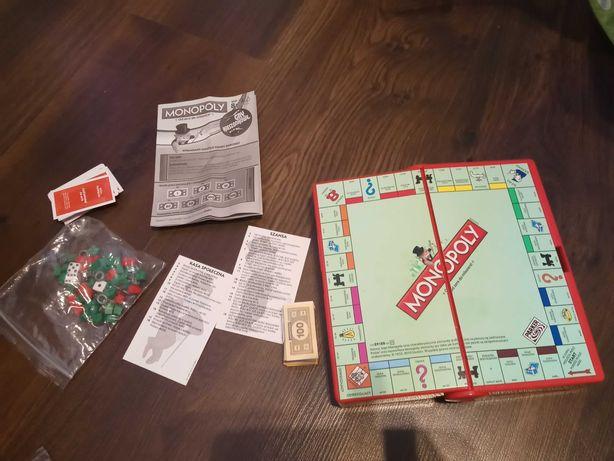 Gra Monopoly strategiczna Hasbro podróżna 8 + dla dzieci dla dorosłych