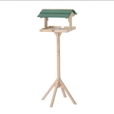 Karmnik domek dla ptaków na nóżce