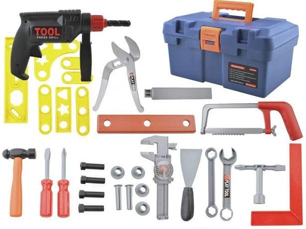 Skrzynka z narzędziami do majsterkowania dla dzieci