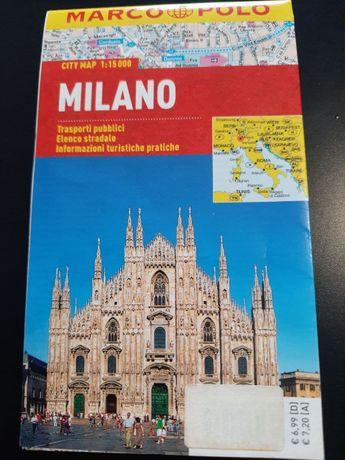 Mapa Marco Polo Milano Mediolan foliowana