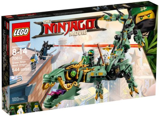 LEGO Ninjago Movie 70612 Зелёный механический дракон ниндзя. Без короб