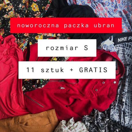 PACZKA UBRAN S + GRATIS ubrania na nowy rok tanio ramoneska crop top