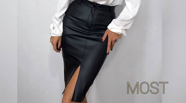 Шикарная юбочка с кожзаменителя