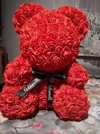 Miś z płatków róż 40 cm