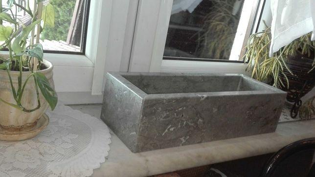 Doniczka marmur szary beton