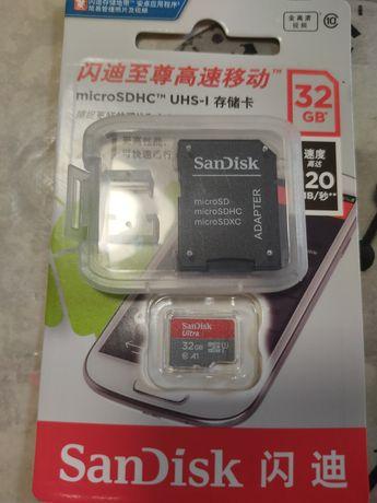 Карта памяти microSd на 32 Gb + адаптер