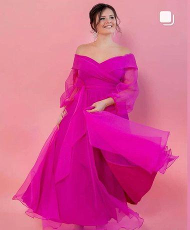 Продам платье Фуксия вечернее свадебное для росписи На выпускной