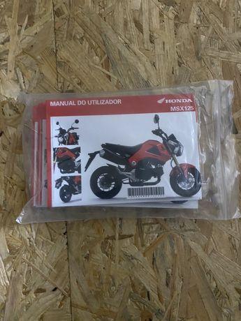 Manuais Honda MSX 125