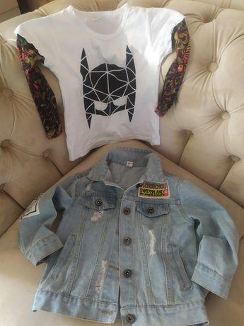Продам стильний джинсовий піджак та джинси