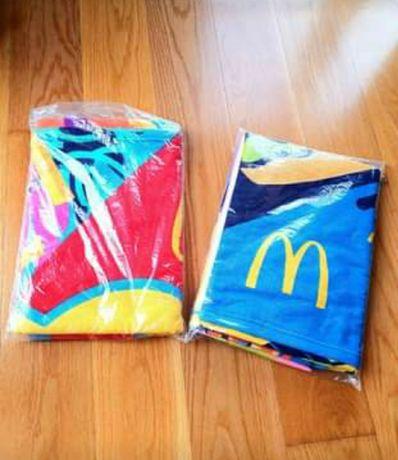 NOVAS - Toalhas de Praia Macdonalds -  2 modelos: hamburguer e batata