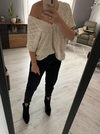 Sweterek oversize new yorker M gole plecy