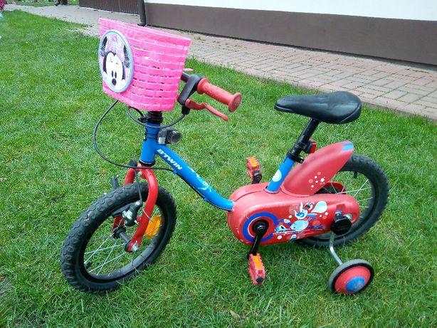 """rower b""""twin decatlon+boczne kółka+koszyk+lampy"""