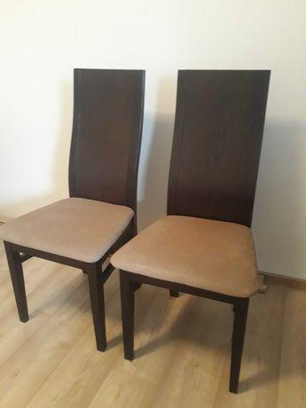 Zestaw 4 krzeseł kolor wenge