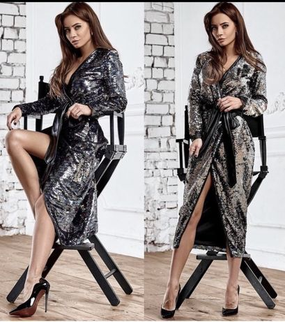 Шикарное платье в пайетках, размер М