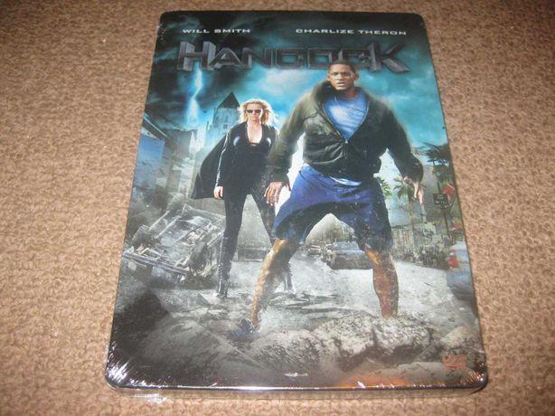 "DVD ""Hancock"" com Will Smith/Steelbook/2 DVDs/Selado!"