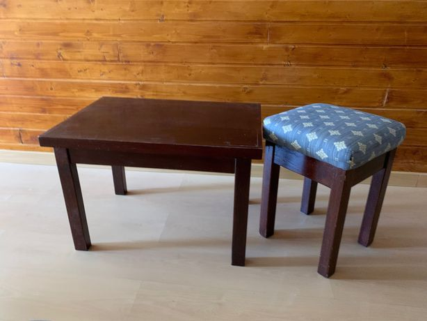 Mesa centro ou apoio em madeira maciça, mogno - baixa preço