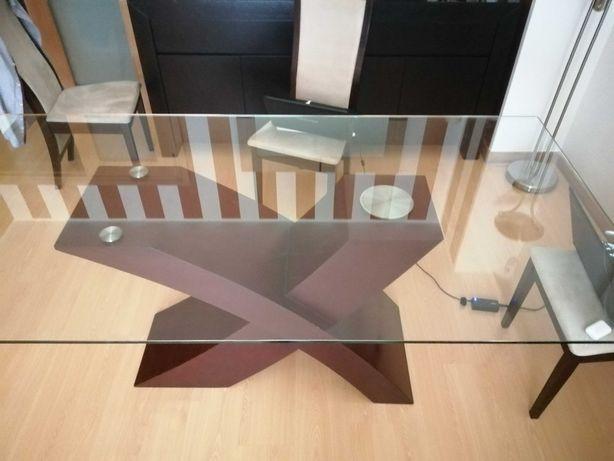 Mesa sala vidro temperado