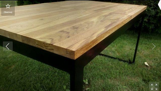 Stół Rozkładany Dębowy 140-210x85 Loft Industrialny