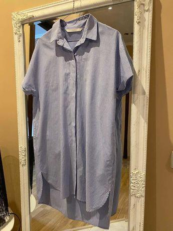 рубашка платье полосатое оверсайз ZARA