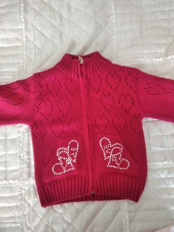 Sweterki dla dziewczynki r. 92-98 Cena za wszystkie