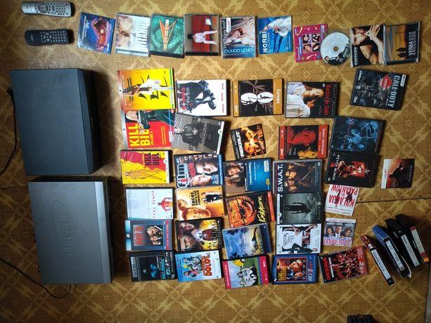 odtwarzacz VHS  płyty DVD płyty CD odtwarzacz DVD