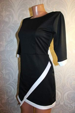 очень красивое необычное платье окантовка бренд размер XS-S 42-44 укра