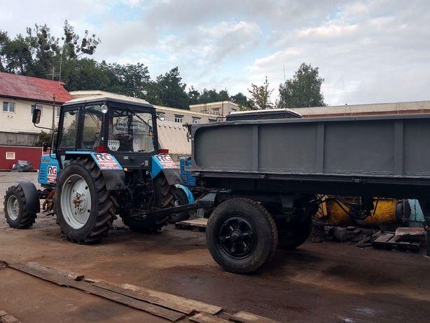 Аренда тракторного прицепа, вывоз мусора, доставка материалов