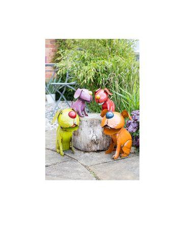 Pies kiwający głową dekor do ogrodu i dom