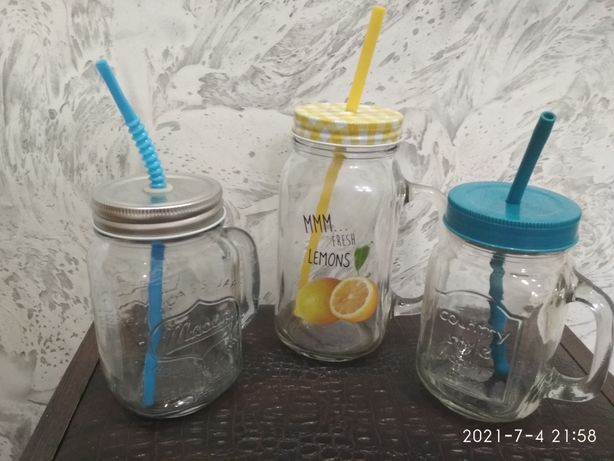 Банки для смузи,лимонада,напитков