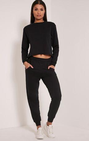 Черные джоггеры, спортивные штаны PrettyLittleThing