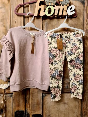 Bluza 92 lila leginsy 92 newbie nowe